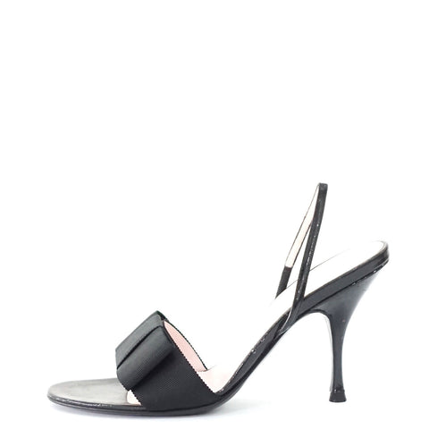 Celine Black Ribbon Sandals 36.5
