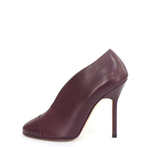 Victoria Beckham Purple Refined Pin Leather Pumps 36