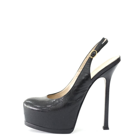 YSL Tribtoo Black Sling Back 36.5