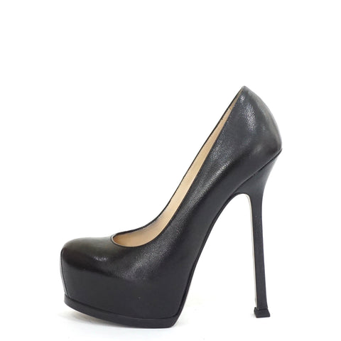 YSL Black Tribtoo Pumps 35.5
