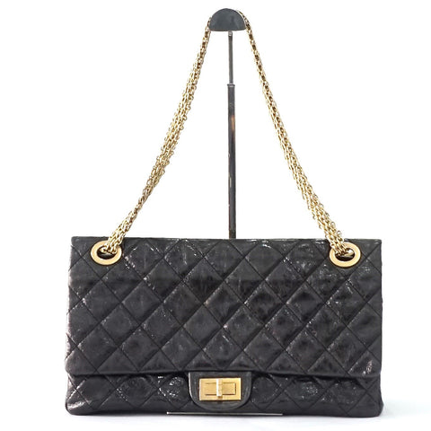 Chanel Reissue 2.55 Maxi (228)Graphite GHW