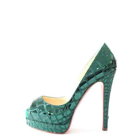 Christian Louboutin Green Shiny 36