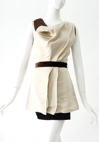 Reyes Beige Sleeveless Top 2