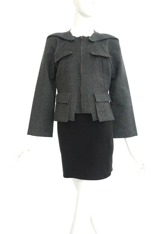 Roland Mouret Gray Jacket 38