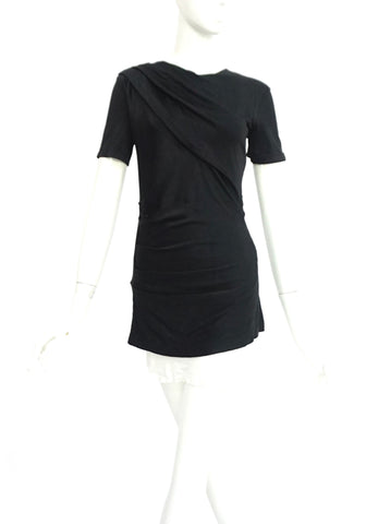 T by Alexander Wang Black Draped Top M