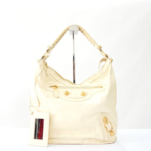 Balenciaga Light Yellow Daybag Gold Hardware