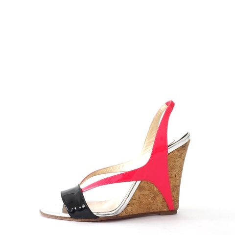 Christian Louboutin Pink Wedge Sandals 35.5