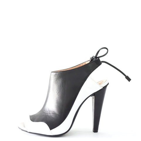 Roland Mouret Black And White Sandals 36