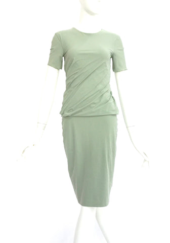 T by Alexander Wang Green Draped  Dress S