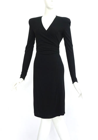 Emporio Armani Black Wrap Dress 38