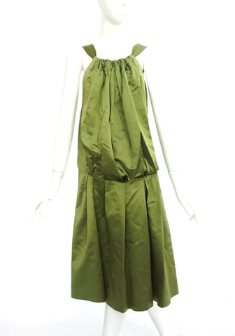 Vera Wang Green Satin Cocktail Dress All Size