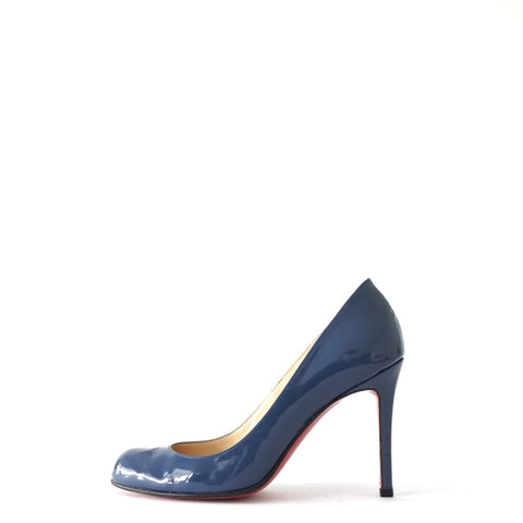 Christian Louboutin Blue Patent Pumps 36