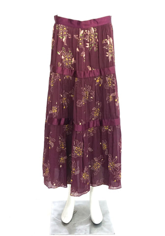 Marc Jacobs Purple Floral Chiffon Skirt 4