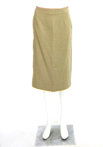 Paul Smith Beige Blue Skirt 40