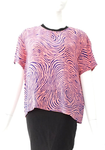 Opening Ceremony Finger Print Pink Top S