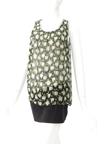 Dolce and Gabbana Black Floral Printed Sleeveless Top 42