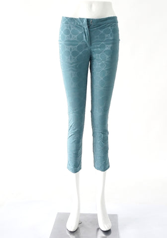Vera Wang Blue Cropped Pants 36
