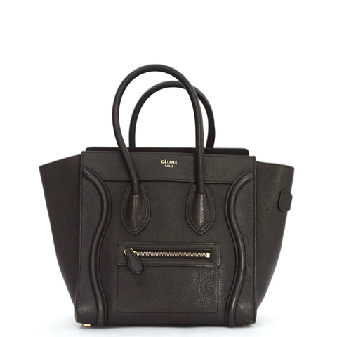 Celine Dark Taupe Micro Luggage Bag