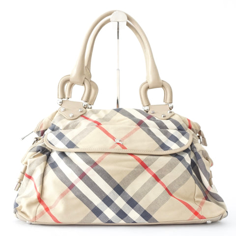 Burberry Nova Check Canvas Canvas Diaper Bag
