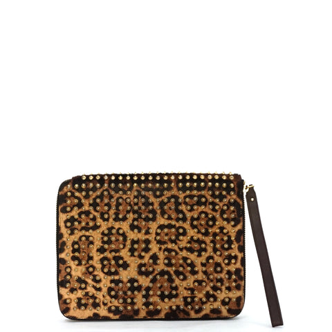 Christian Louboutin Pony Leopard Spiked Ipad Case
