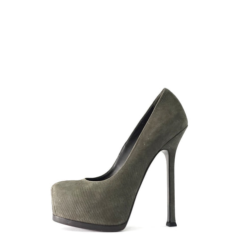 YSL Grey Pumps 35.5