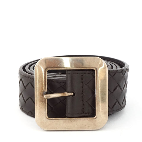 Bottega Veneta Brown Wooven Belt