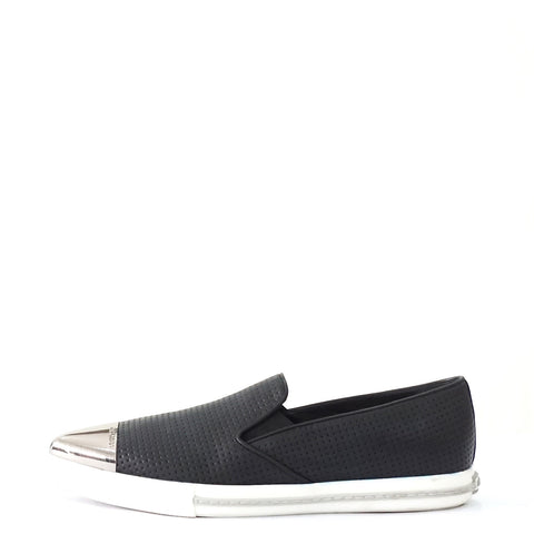 Miu Miu Black Perforated Slip-on Flats 40