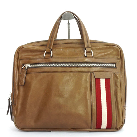 Bally Brown Leather Offery Briefcase