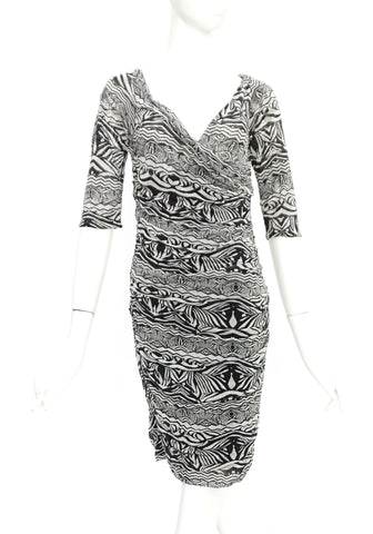 Diane Von Furstenberg Black and White Dress M