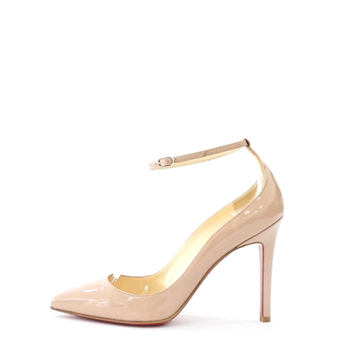 Christian Louboutin Beige Patent Pointy Shoes 35