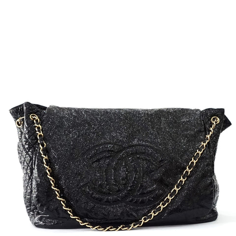 Chanel Black Metallic Rock and Chain Bag