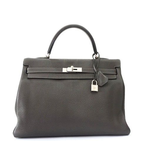 Hermes Kelly 35 Graphite Taurillon Clemence Amazon PHW