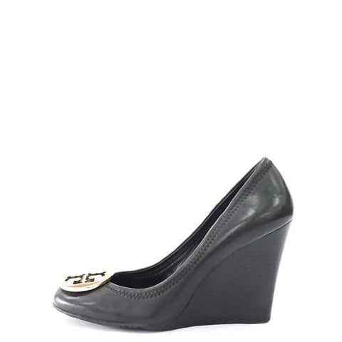 Tory Burch Black Wedge Shoes 5M