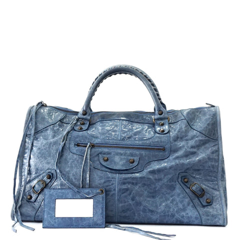 Balenciaga Blue Work Bag