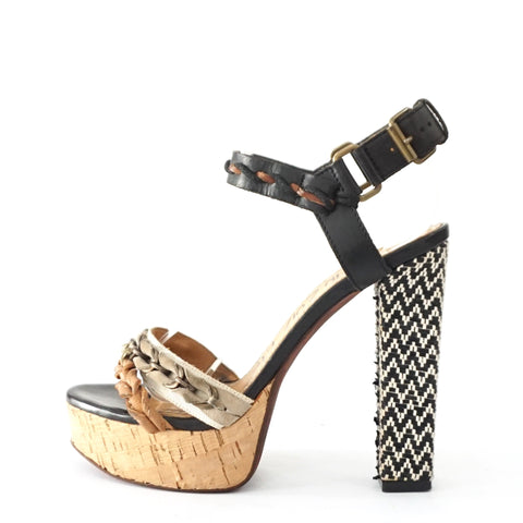 Lanvin Chunky Ankle Strap Sandals 36
