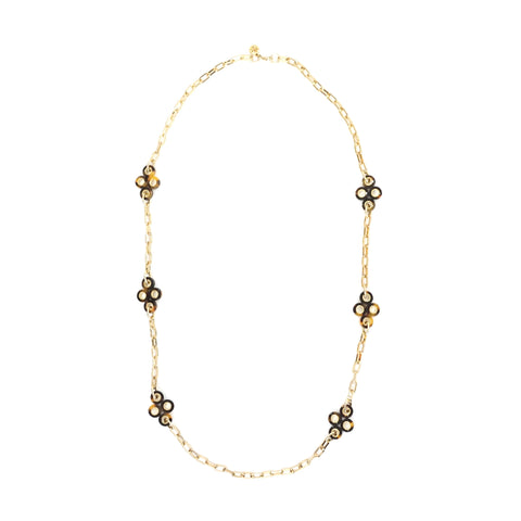 Tory Burch Cole Clover Station Necklace
