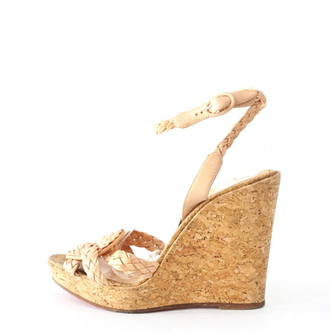 Christian Louboutin Braded Wedges Sandals 36