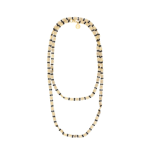 Tory Burch Beaded Mini Clover Long Necklace