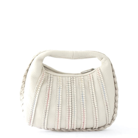 Bottega Veneta Light Grey Mini Belly Handbag