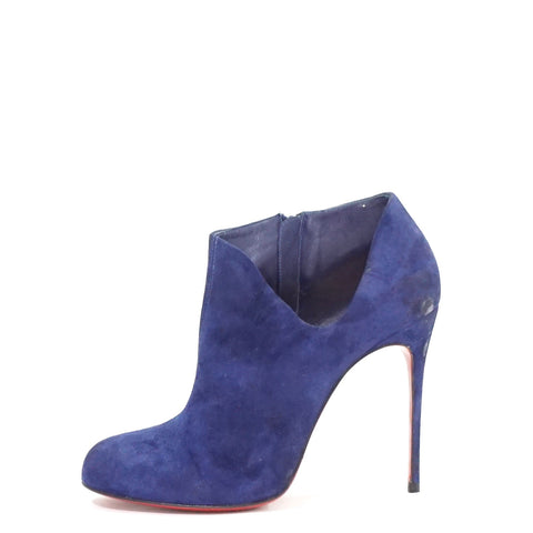 521f40d8b59 Christian Louboutin Blue Lisee Suede Ankle Boots 38.5 – The Brand Buffet