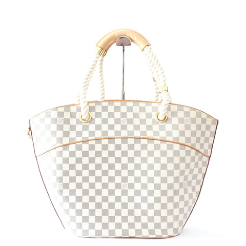 Louis Vuitton White Damier Tote Bag