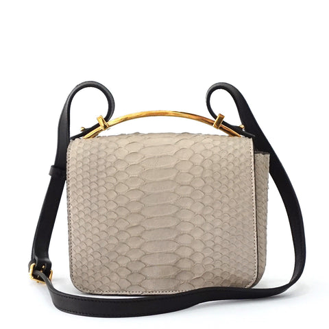 Marni Taupe Python Mini Shoulder Bag