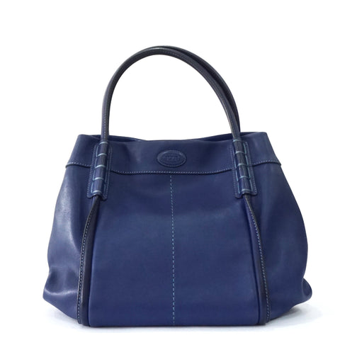 Tods Blue Tote Bag
