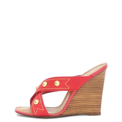 Louis Vuitton Strawberry Cabas Wedges 38