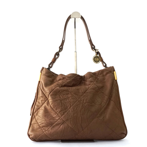 Lanvin Camel Leather Hobo Bag