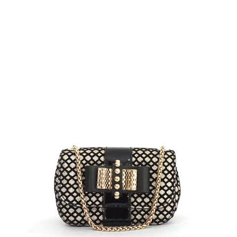 Christian Louboutin Sweet Charity Black and Gold Sling Bag