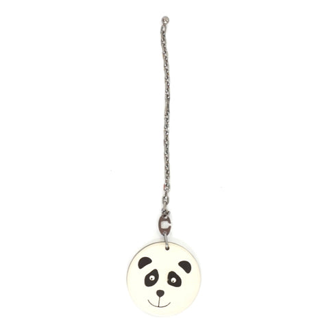 Hermes Panda Leather Bag Charm