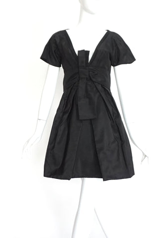 Alexander Mcqueen Low Cut Black Dress 42