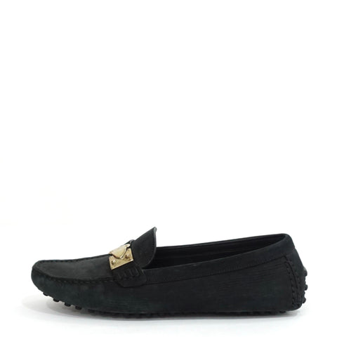 Louis Vuitton Black Suede Loafers 36