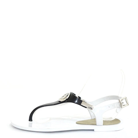 Armani Jeans White Jelly Sandals 36